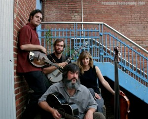 """Larry Keel and Natural Bridge — (from left) mandolin player Mark Shimick, banjo player Jason Flournoy, Keel and his wife, bassist Jenny Keel — will headline """"Old City Live"""" on Thursday (Aug. 13)."""