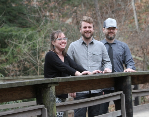 Jon Stickley Trio is Lyndsay Pruett, Jon Stickley & Patrick Armitage (pictured left to right). Photo by Allie Leanna Photography.
