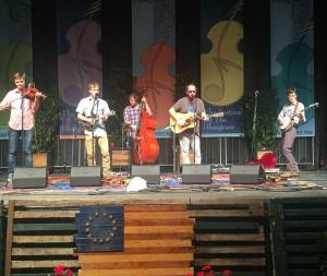 Town Mountain at The Festival Of Bluegrass. Photo by Jamie Shepard.